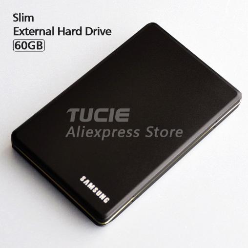 Slim HDD 2.5'' USB2.0 External Hard Drive 60G Desktop and Laptop Portable Disk Plug and Play(China (Mainland))