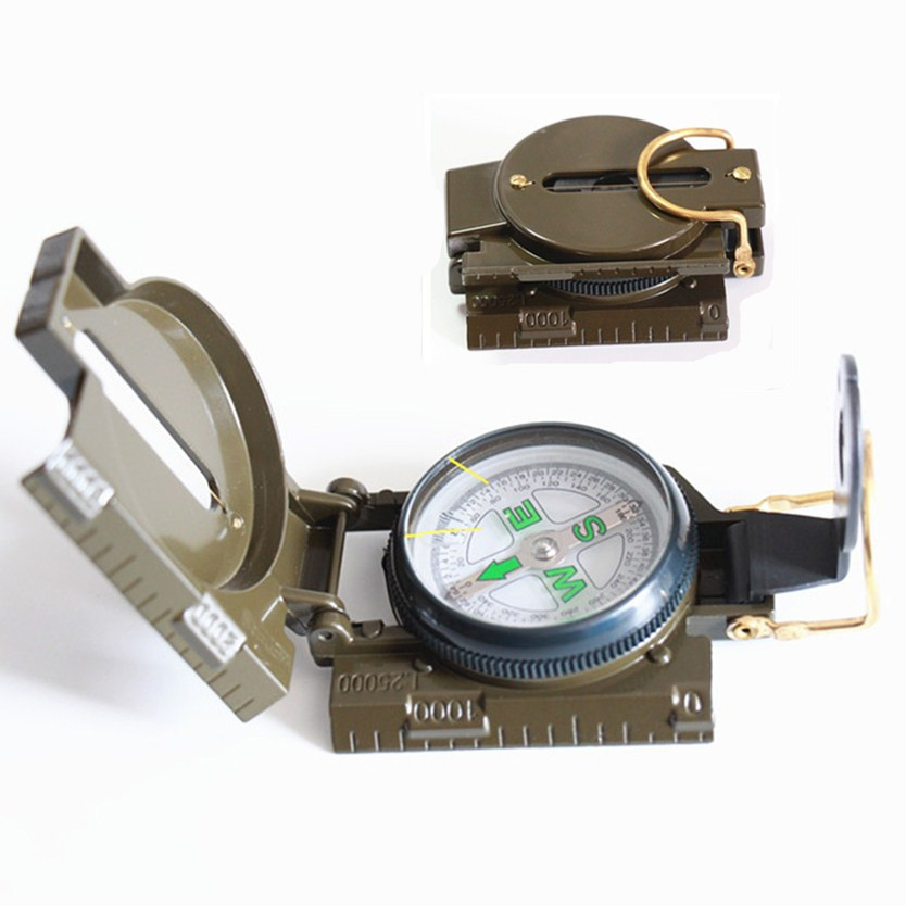 Survival Compass New Portable Multifunction Folding Lens Compass Professional Pocket Military Army Geology Compas(China (Mainland))