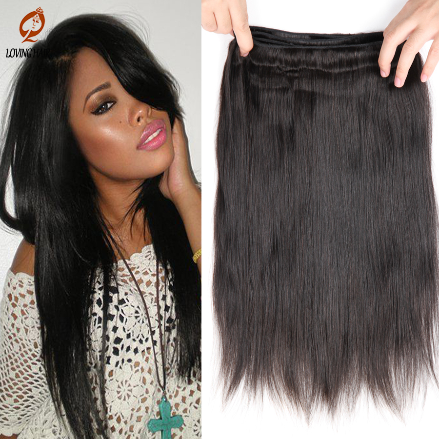 Virgin Straight Hair Weave Peruvian Virgin Hair Straight Virgin Hair Bundles 100g/piece Rosa Hair Products Peruvian Straight