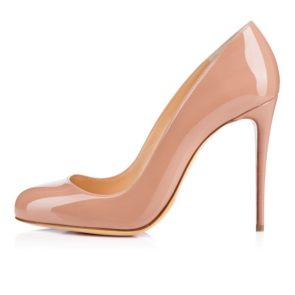 Aibarbie Ladies Women Handmade Fashion Borissima 100MM Round Toe Basic High Heel Party Pumps Shoes Many Colors For Pick