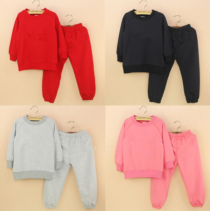 Kids Children's Boy Girls GAPS*S Spring Autumn Tracksuit Sweat Clothing Sets 2015 Brand Sweater+Pant Sport Suit Meninas Meninos(China (Mainland))
