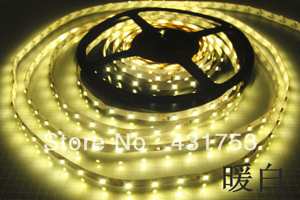 10m/lot 3528 5m 300 leds SMD Led Strip 60 Led per meter White/Warm white/Blue/Green/Red/Yellow Not waterproof (free shipping)