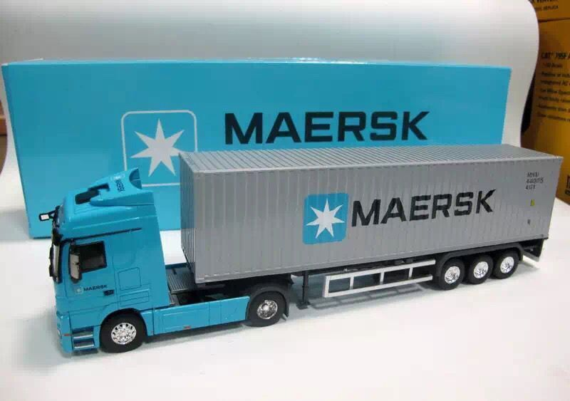 NEW 1:50 Mercedes Benz MAERSK container truck model(China (Mainland))