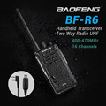 Handheld Transceiver BAOFENG BF R6 Two Way Radio UHF 400 470MHz 16 Channels Walkie Talkie USB