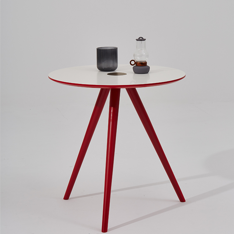 [InYard original] white small family of northern Europe simple fashion home two small table small round table(China (Mainland))