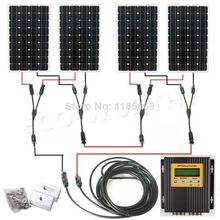 4*150W 18V mono solar panel + 20A MPPT charge controller 600W solar system