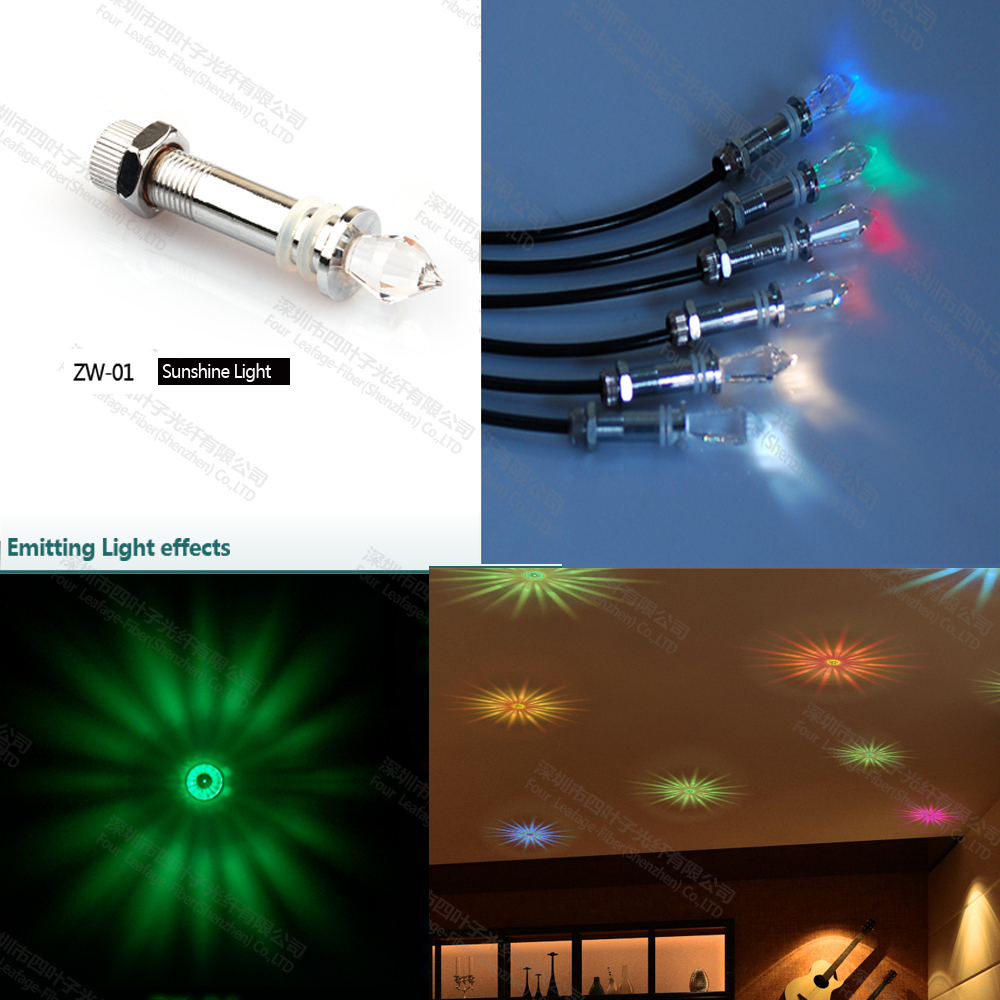 ZW-01 indoor decorative plastic crystals LED starry fibre optic crystal ending ceiling lights light fixture for home decoration(China (Mainland))