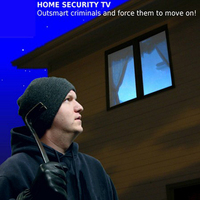 New Brand LED Sensor and Timer Burglar Deterrent Home Security TV Sensor Fake TV With EU UK and US Plug