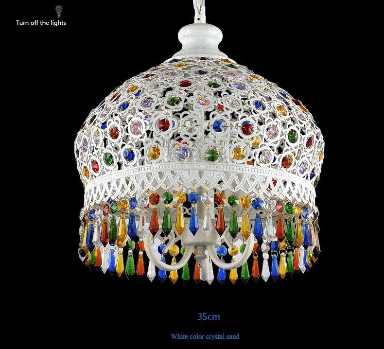 Bohemian Mediterranean Blue Crystal Ceiling Drop Light Pendant Lamp Lampshade Lighting Fixture for Room Restaurant Cafe Decor (11)