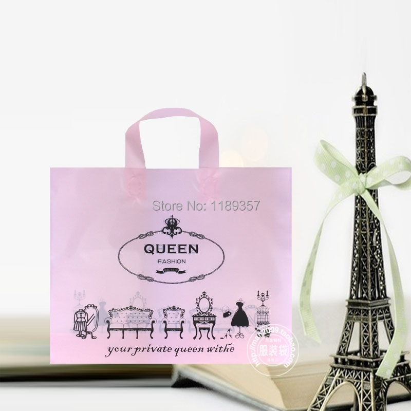 In stock fashion packing bag, women clothing garment bag ,plastic packing bag ,kid cute tote gift bag dp412(China (Mainland))