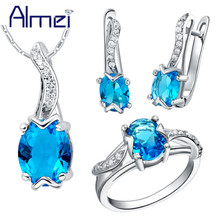 Almei Sapphire Jewelry Set 925 Sterling Silver Zircon Bijoux Cute Turtle Red Crystal Wedding Accessories Party For Women T232(China (Mainland))