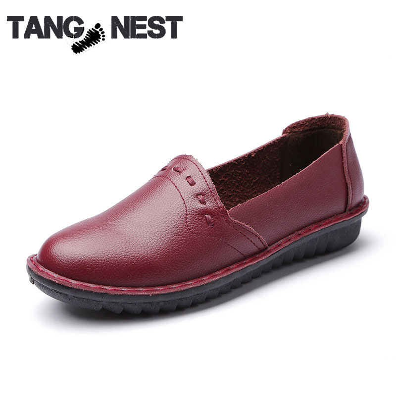 Plus Size Women's Loafer 2016 New PU Leather Non-slip Comfort Flats For Pregnant Ladies Casual Driving Shoes,XWP185