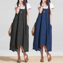 Buy 2017 Fashion Women Jeans Dress Loose Waist Casual Denim Spaghetti Strap Dresses Multi-way Wearing Clothes JL for $8.86 in AliExpress store