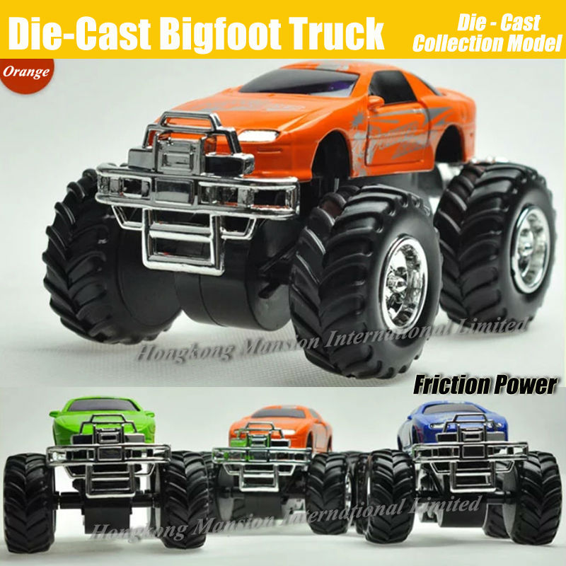 Diecast Alloy Metal Bigfoot Car 1:32 Scale Model Collection Crosscountry Big Wheel Monster Truck Friction Power Toys Car(China (Mainland))