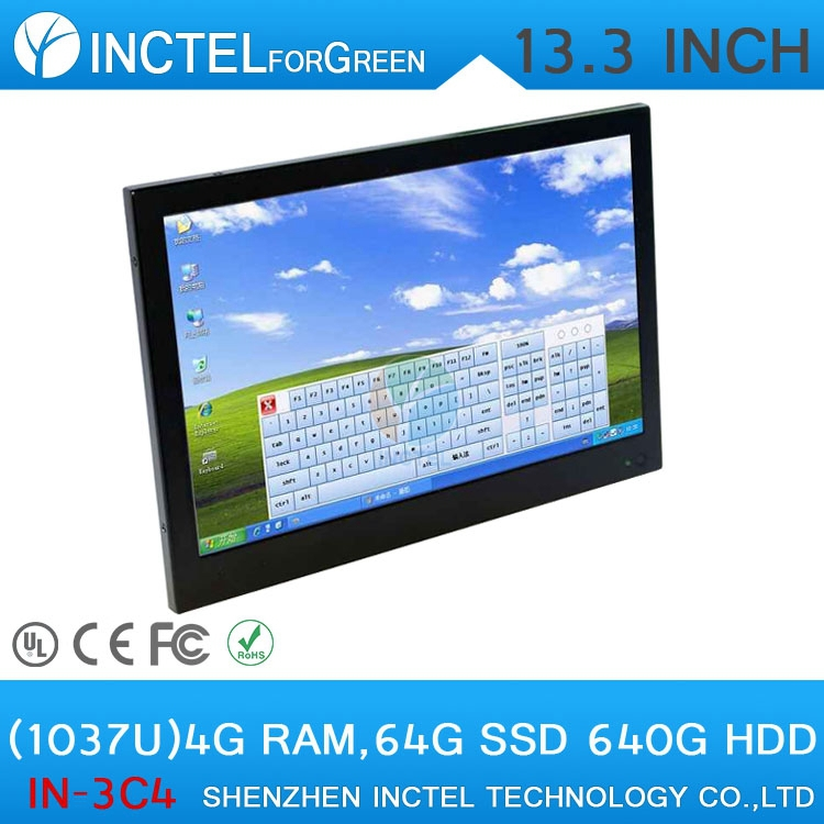 OEM cheap all in one computer touchscreen led tv pc for office with 4G RAM 64G SSD 640G HDD(China (Mainland))