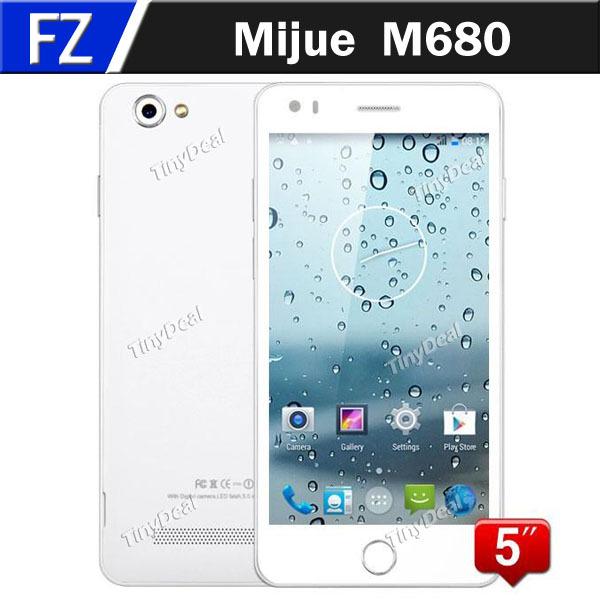 "Mijue M680 5.0"" IPS qHD MTK6582 Quad Core Android 4.4 KitKat 3G WCDMA Mobile Phone 13MP CAM 1GB RAM 4GB ROM 5S Phone Russian(China (Mainland))"