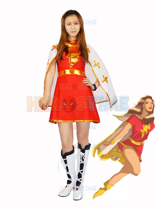 Marvel Family Mary Costume Lycra Spandex Halloween Cosplay Female Superhero Popular Women Dress - Spiderman monopoly store