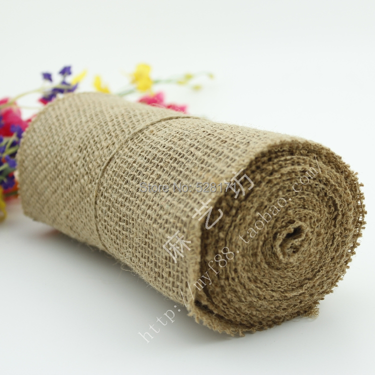 "Free Shipping 8.5"" Wide Jute Fabric jute burlap ribbon(China (Mainland))"