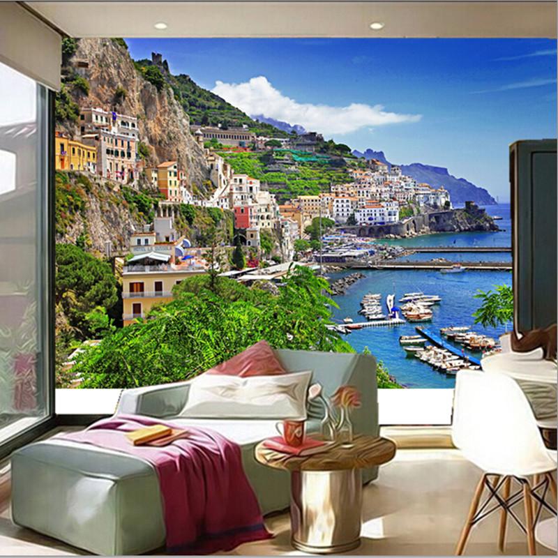 Fondos de pantalla de las ciudades compra lotes baratos for Murales en 3d para salas