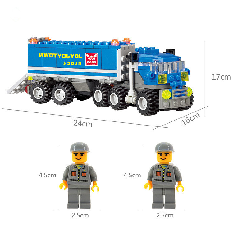High Quality Original Construction City Truck Model Building Blocks Sets 163pcs Deformation Car Magnetic Building Blocks Toys