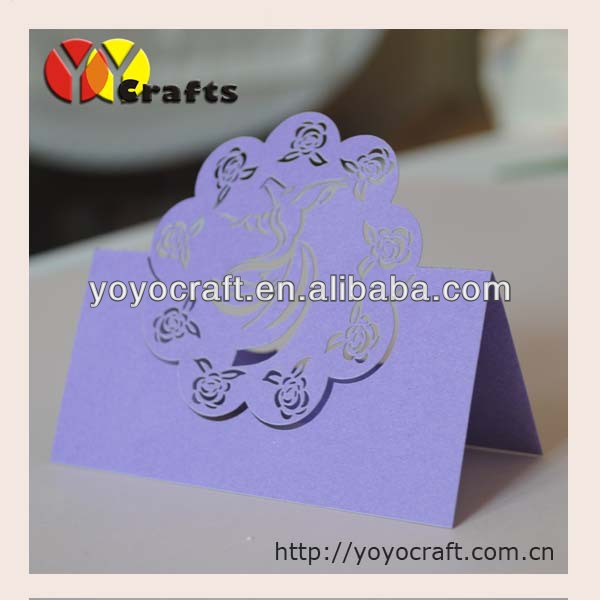 best sell simple new design angel purple place card holder(China (Mainland))