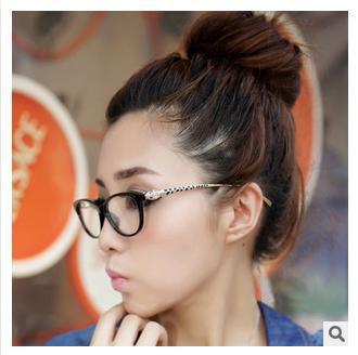 Leopard head metal legs glasses frame points women computer eyeglasses brands 2015 clear lens glasses oculos de grau femininos(China (Mainland))