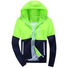 2016 Stylish Fashion High Quality Jacket Coats, Men Causal Hooded Jacket,Men Thin Windbreaker Zipper Coats Outwear(China (Mainland))