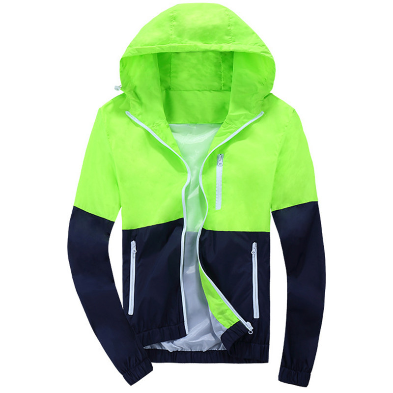 2016 Stylish Fashion High Quality Sport Jacket Coats, Men Causal Hooded Outdoor Jacket,Men Thin Windbreaker Zipper Coats Outwear(China (Mainland))