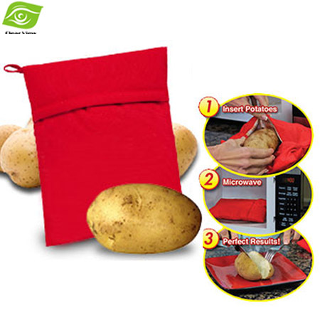 Microwave Oven Potato Baking Bag Steam Pocket(cooks 4 potatoes at once) In 4 Minutes Washable Potato Cooker Bag(China (Mainland))
