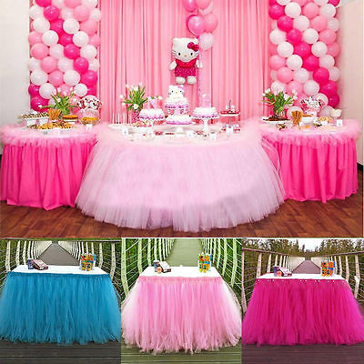 5 Candy Colors Tulle Tutu Table Skirt Tulle Tableware Wedding Decoration Baby Shower Party Wedding Table Skirting Home Textile(China (Mainland))