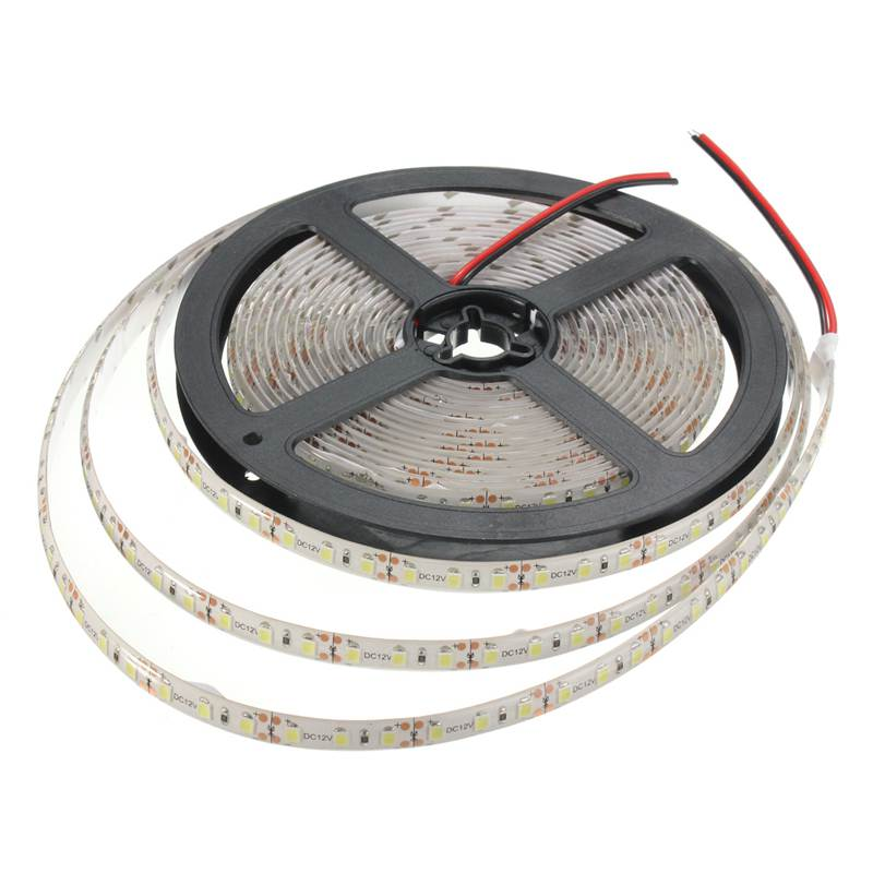 New Arrival 48W 5M 2835 600 SMD LED Strip Light Xmas Tape Warm Pure White 3000-4200Lumen Waterproof/Non Waterproof DC12V(China (Mainland))