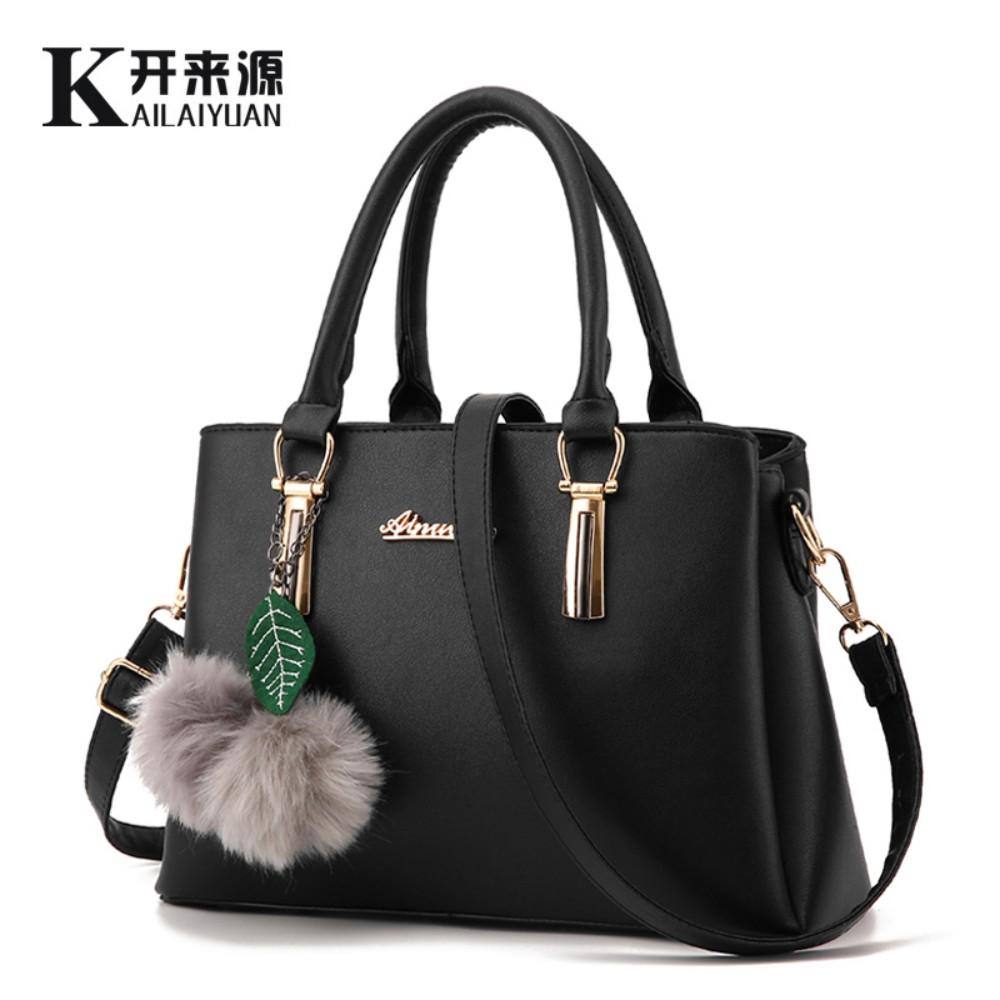 KLY 100% Genuine leather Women handbags 2017 New Lychee pattern shoulder handbag fashion bag diagonal package women messenge bag(China (Mainland))