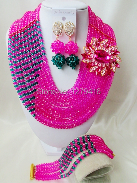 2014 of the most popular wedding beads in Nigeria, Africa beads, crystal necklace bracelet sets  A380<br><br>Aliexpress