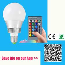 AC85-265V 20w E27 RGB led lighting Colorful LED Bulb Lamp Spot light with Remote Control Bar lights Free Shipping(China (Mainland))