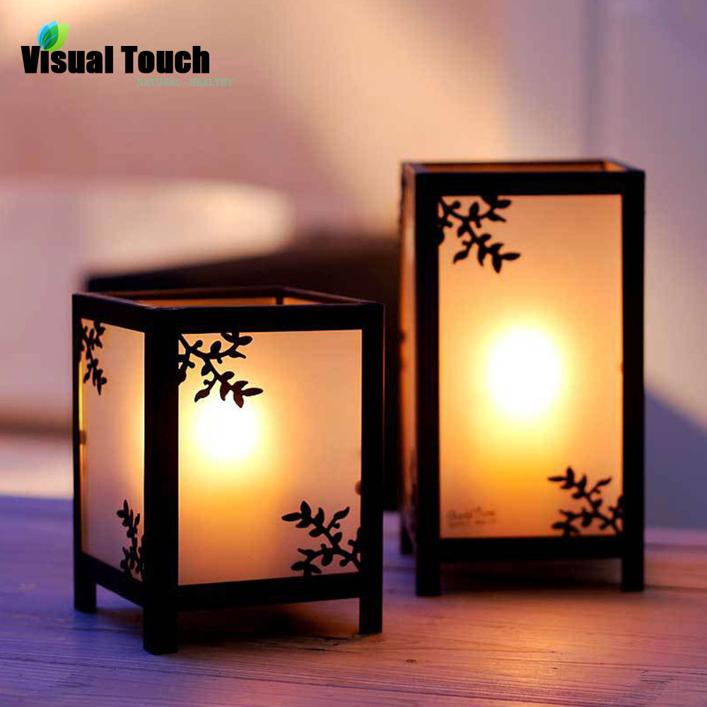 European Metal Iron and Glass Lantern Candle Holder Tea Light Holder Stand Wedding Party Home Decor Romantic Dinner(China (Mainland))