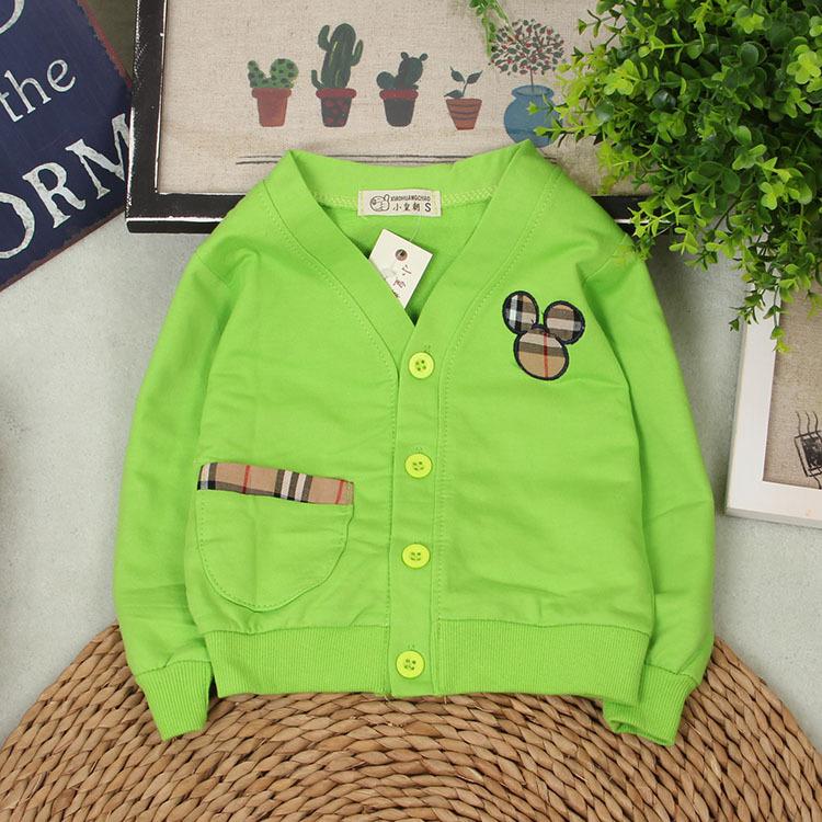 Brand Wholesale Autumn Baby Clothing Cotton Knitted Autumn Baby Coat & Jacket Full Sleeve Infant Jackets 4 Colors Free Shipping(China (Mainland))