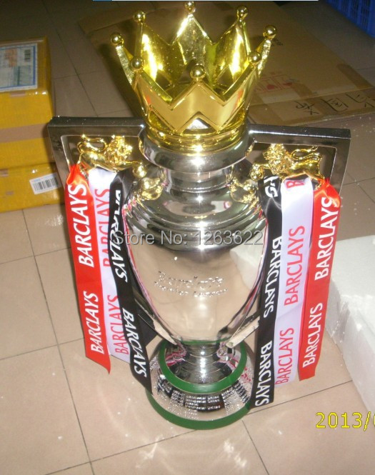 FREE SHIPPING 77CM 8.5KG 1:1 FULL SIZE British Premier League Trophy Soccer Football Replica Trophy resin BPL(China (Mainland))