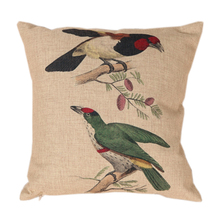 Birds Linen Sofa Cushion Cover