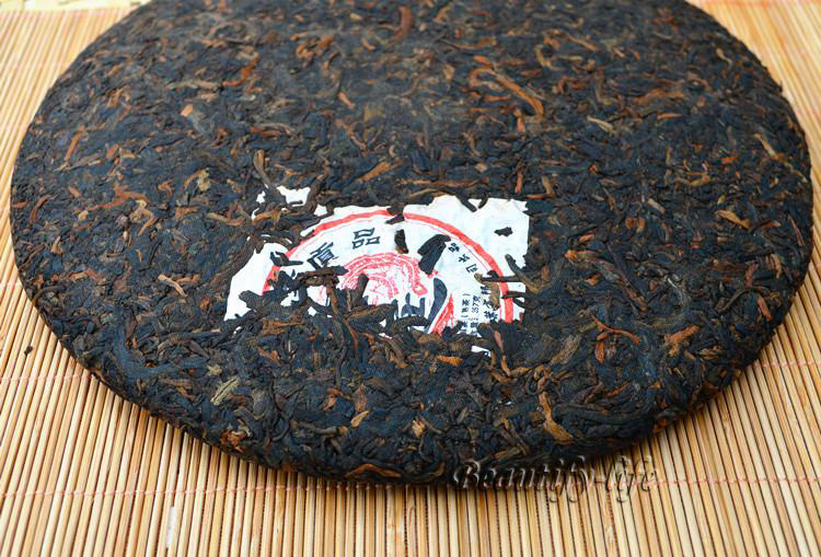 2006 year Puer 357g Gold Peacock Puerh Tea Ripe A2PC197 Free Shipping