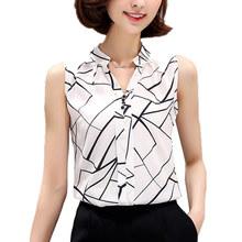 Blusas Vetement Femme Chemise Women Clothes Chiffon Top Blusa Feminino Camisa Sleeveless Blouse Tops Ropa Mujer Plus Size Shirt