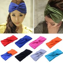 Women Girl's New Fashion  Hair clip Turban Twist Headband Head Wrap Knotted Soft Hair Band 7 Colors Hair  styling(China (Mainland))