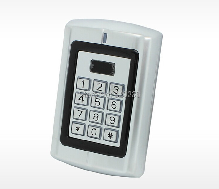 Waterproof Background Light Door Bell Metal Case Keypad ID EM Access Control System RFID Proximity Card Reader(China (Mainland))
