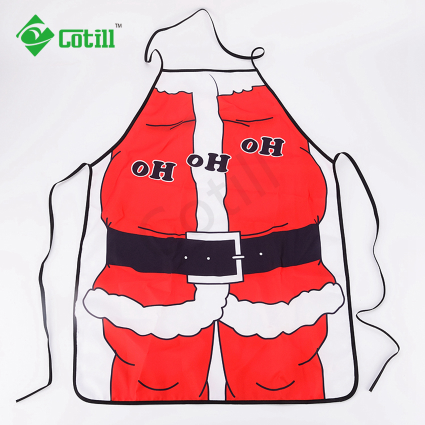 Christmas Decoration For Home Kitchen Aprons 2016 Christmas Dinner Party Apron Santa Christmas Kitchen Apron(China (Mainland))