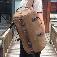 High Quality Promotion Fashion Designer  Vintage Canvas Big Size Men Travel Bags Luggage Backpacks #M30056(China (Mainland))