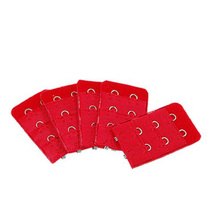 5 Pack 5 pcs Red Bra Extension Replacement Extenders 2 Hooks