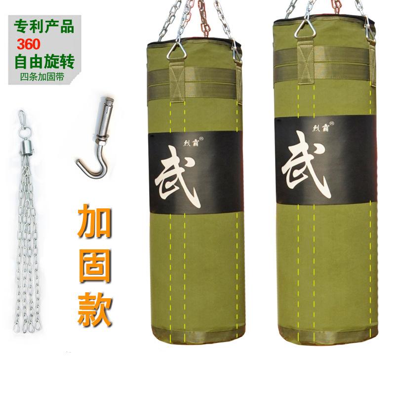 Фотография Durable canvas hollow hanging boxing g Boxing sandbag Punching Bag Sand Bag with long chain+Rotating hook