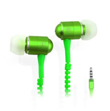 LOT SALES Newly Flash Gleamy LED Glowing ZIPPER Earphones Headphones For Iphone6/5c/SUMSING/HTC/MI4/Media Player/MP34(China (Mainland))