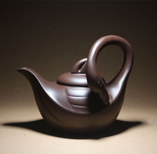 2015 new Creative Chinese kungfu yixing teapot Purple clay kung fu Swan Lake stlye Ore tea pot Artistic teapots free shipping