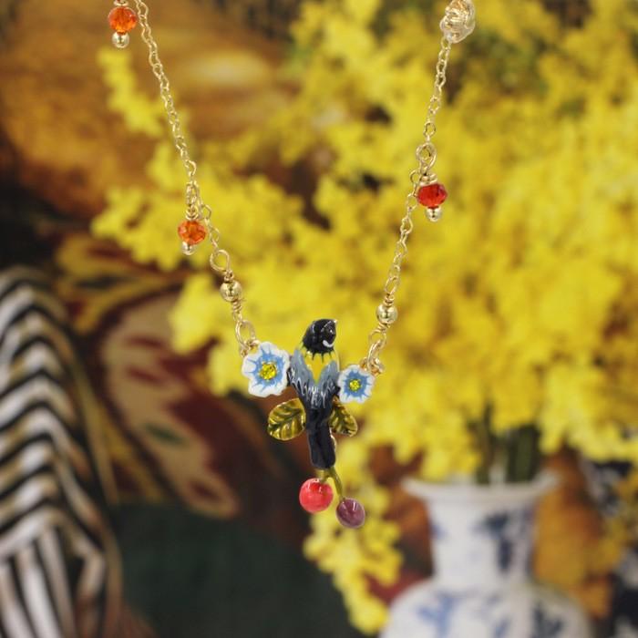 Новый Простой Элегантный Цветок Черемухи Ожерелье Для Женщин Высокого Качества Леди Ювелирные Изделия