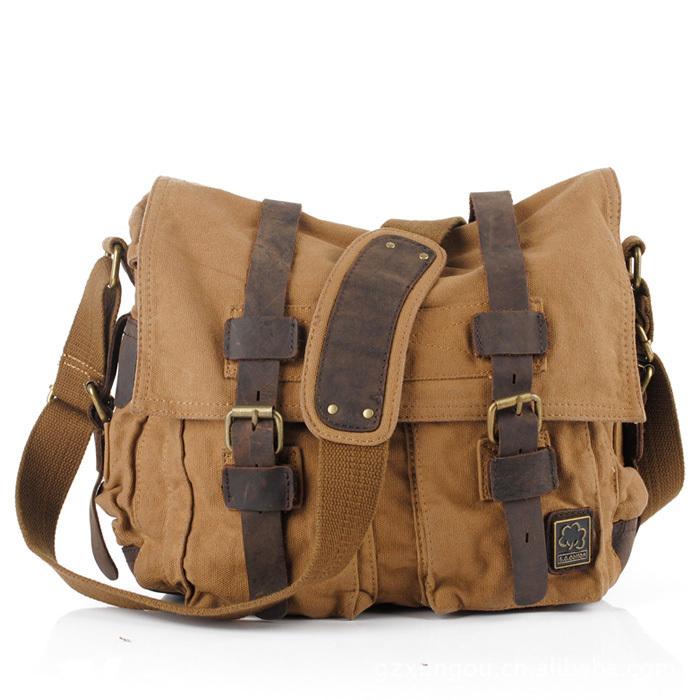 Vintage men messenger bags canvas shoulder bag<br><br>Aliexpress